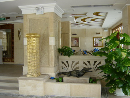 marble pillar and flooring pavers project