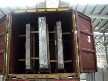 granite big slabs container loading