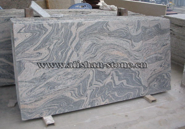 China Juparana granite slabs cut edges