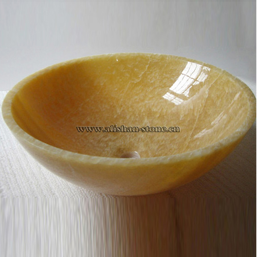 Onyx Yellow Marble Sink